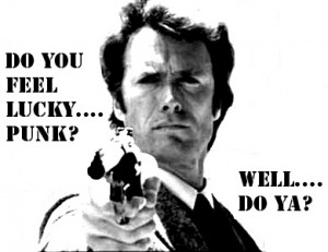 Clint Eastwood Do you feel lucky punk