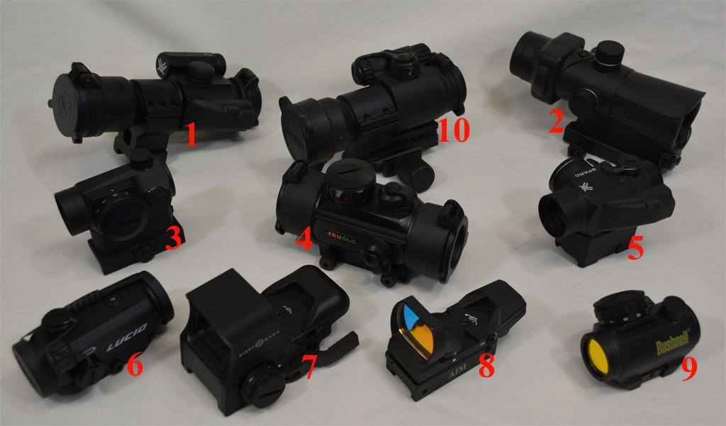 Reflex Rifle Optics Examples