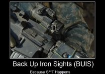 Back Up Iron Sights Meme