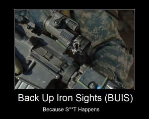 Back Up Iron Sights Meme