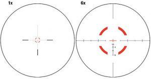 Trijicon VCOG 1-6x24 Scope Reticle