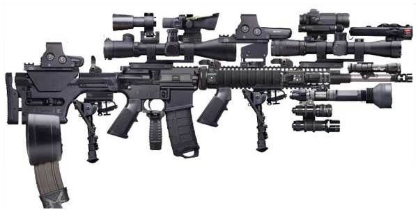 Tacticool AR-15 with way too many attachements